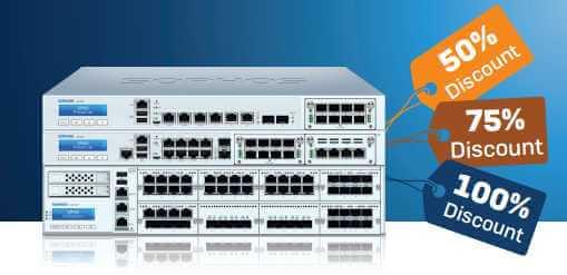 Uzyskaj do 100% zniżki na firewall Sophos XG